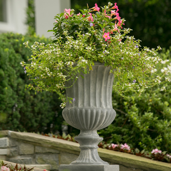 The LaurelRock Company provides year-round property enhancements such as planters in the Summer.